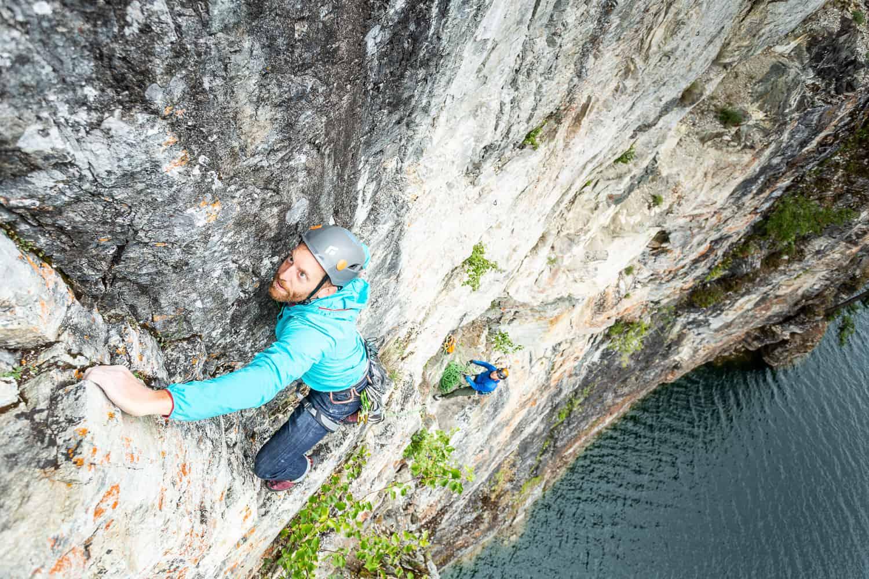 Climbing at Waterworld Revelstoke