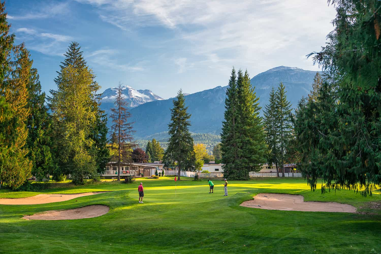 Golfing the front 9 at Revelstoke Golf Club
