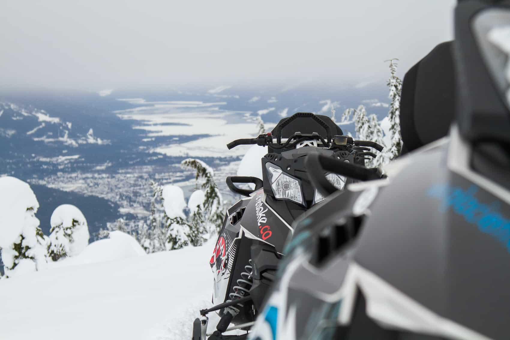 Revelstoke view snowmobiling
